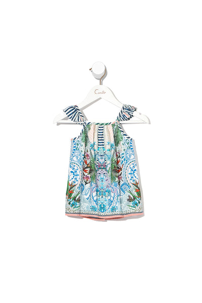 BABIES DRESS WITH FRILL STRAP BEACH SHACK