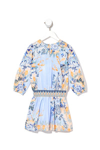 KIDS RELAXED SHIRRED WAIST DRESS FRASER FANTASIA