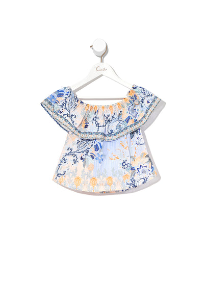KIDS OFF THE SHOULDER TOP FRASER FANTASIA