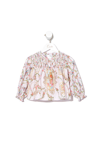 BABIES JACKET WITH SHIRRING LITTLE PETAL