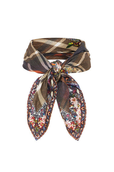 NECK TIE SCARF PAVED IN PAISLEY