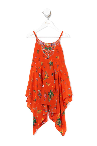 INFANTS HANDKERCHIEF HEM DRESS PARADISE CIRCUS