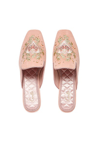 SQUARE TOE SLIPPER DUSTY PINK