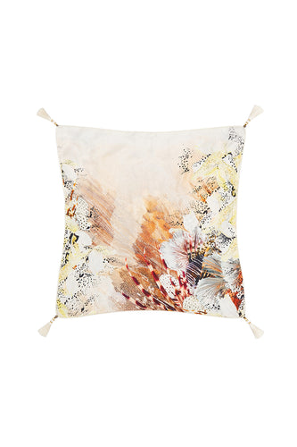 LARGE SQUARE CUSHION COASTAL TREASURE