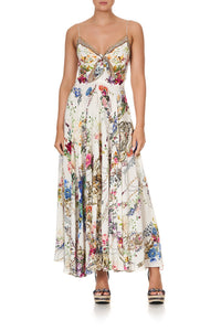 LONG DRESS WITH TIE FRONT BY THE MEADOW