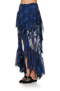 MAXI SKIRT WITH DOUBLE FRILL CAMDEN MOON