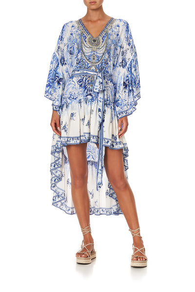 HIGH LOW RUFFLE DRESS HIGH TEA