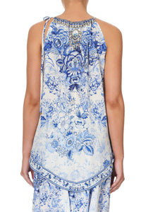 HANDKERCHIEF HEM TANK HIGH TEA