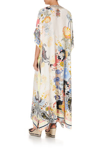 LACE UP KAFTAN BRITAIN BOUQUET