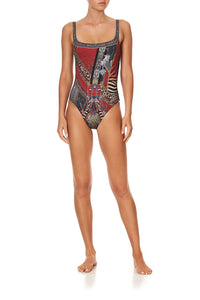 UNDERWIRE SQUARE NECK ONE PIECE LONDON CALLING
