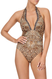 HALTER ONE PIECE WITH GATHERING LADY LODGE