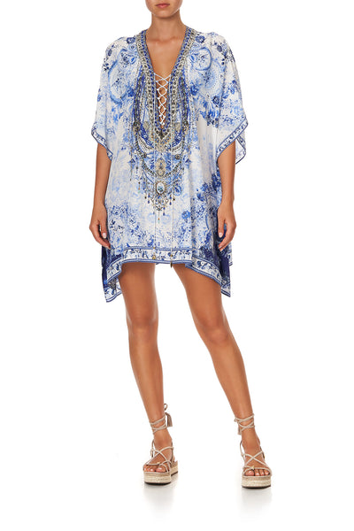 SHORT LACE UP KAFTAN HIGH TEA