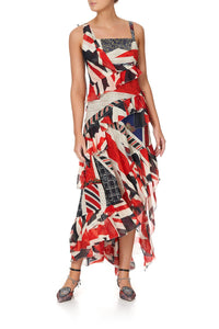 ASYMMETRIC MULTI FRILL DRESS JACK BE NIMBLE