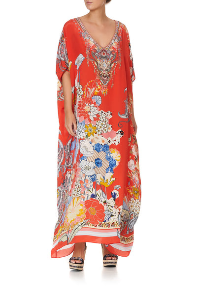 V-NECK KAFTAN PAISLEY IN PATCHES