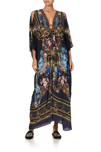 SPLIT SLEEVE KAFTAN WITH HARDWARE FIELDS OF TREASURE