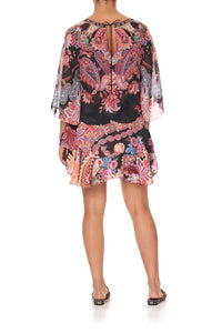 LAYERED FRILL SHORT DRESS SWINGING SIXTIES