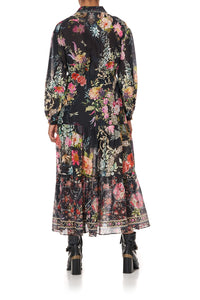 TIERED LONG SHIRT DRESS HAMPTON HIVE