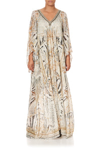 PLEAT SLEEVE LONG DRESS GATES OF GLORY