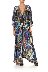 SPLIT SLEEVE KAFTAN WITH HARDWARE RAINBOW ROOM