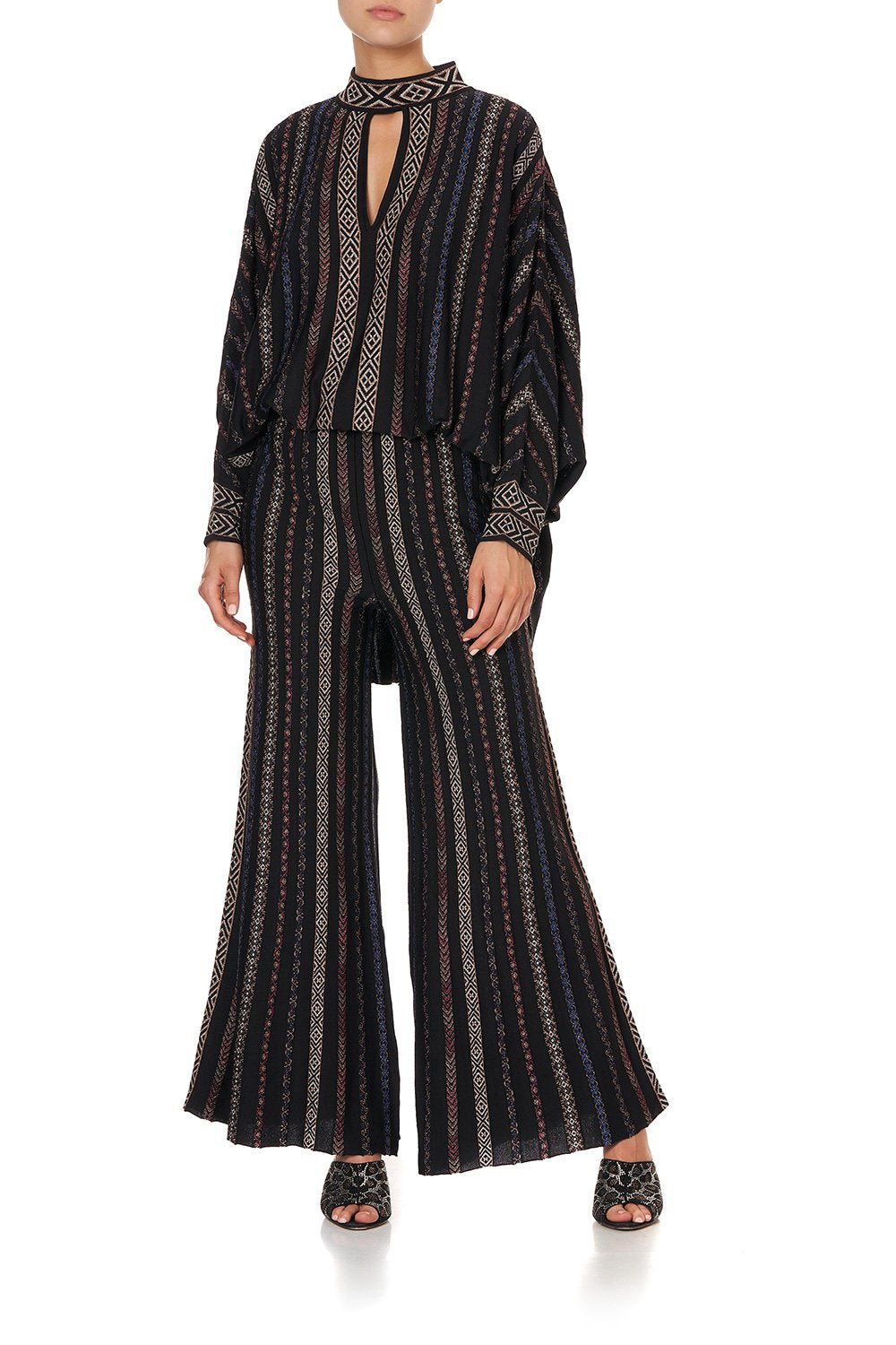 FIT AND FLARE KNIT PANTS SWINGING SIXTIES