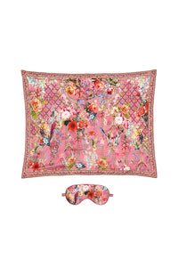 EYE MASK AND PILLOW SET PATCHWORK HEART