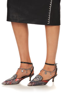 KITTEN HEEL LOAFER WITH ANKLET LONDON CALLING