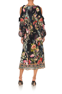 SPLIT SLEEVE WRAP DRESS HAMPTON HIVE