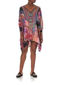 SHORT KAFTAN WITH CUFF SWINGING SIXTIES