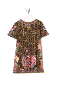 KIDS TSHIRT DRESS WITH FLARE HEM 4-10 MAYFAIR MARY
