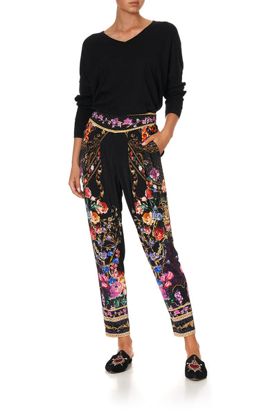 HAREM PANTS WITH FRONT PLEATS BLUSHING MANOR
