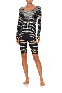 LONG SLEEVE TOP WITH THUMBHOLE ZEBRA CROSSING