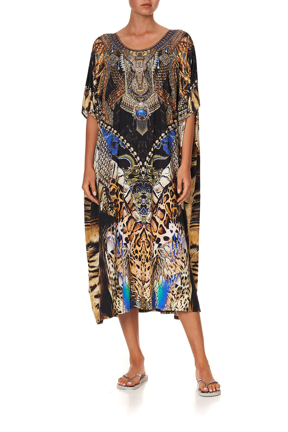 ROUND NECK LOUNGE KAFTAN DRAGON LADY