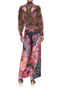 PAPERBAG WAIST WIDE LEG PANT SWINGING SIXTIES
