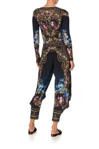 JERSEY DRAPE PANT WITH POCKET FIELDS OF TREASURE