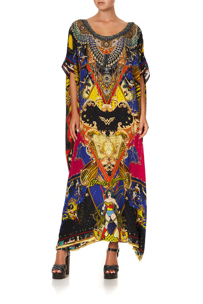 ROUND NECK KAFTAN WONDER WOMAN