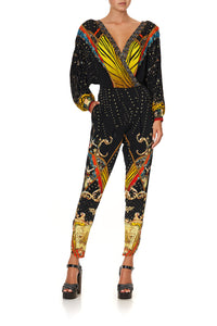 JERSEY TWIST FRONT JUMPSUIT WONDER WOMAN