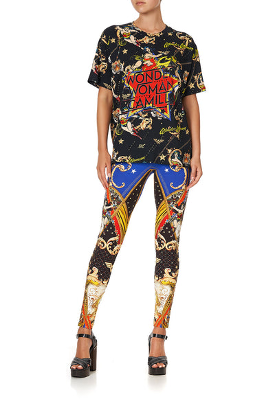OVERSIZE BAND TEE WONDER WOMAN