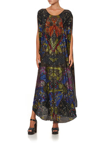 SHEER ROUND NECK KAFTAN WONDER WOMAN