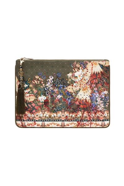 SMALL CANVAS CLUTCH WATCHFUL WINGS