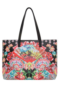 EAST WEST TOTE PAINTED LAND