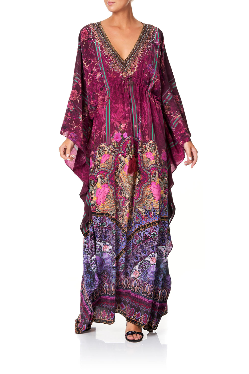 V-NECK KAFTAN WITH TIE WAIST DAUGHTER'S DESTINY