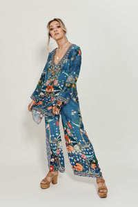 LOUNGE TROUSER WITH TIE WAIST FARAWAY FLORALS