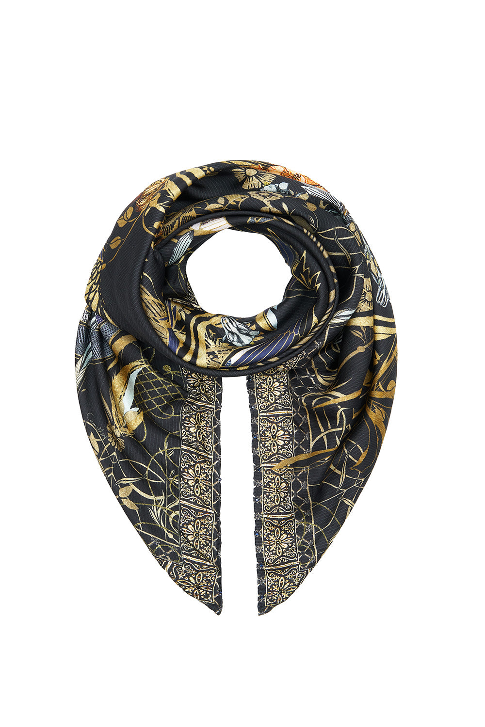 LARGE SQUARE SCARF THE JEWELLED ARROW