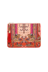 SMALL CANVAS CLUTCH LOTUS LOVERS