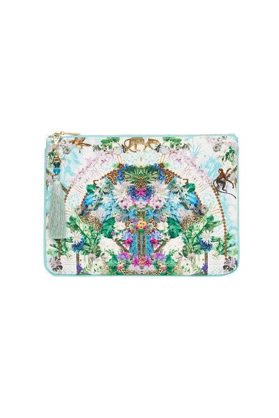 SMALL CANVAS CLUTCH MOON GARDEN