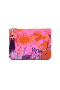 SMALL CANVAS CLUTCH TROPIC OF NEON