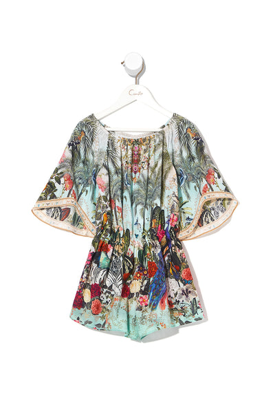 KIDS 3/4 FLARE SLEEVE PLAYSUIT GULLY OF JUPITER