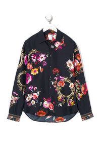 COLLARED LONG SLEEVE SHIRT MIRROR MIRROR