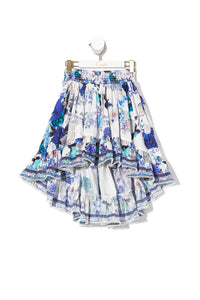 INFANTS HIGH LOW HEM SKIRT WHITE SIDE OF THE MOON