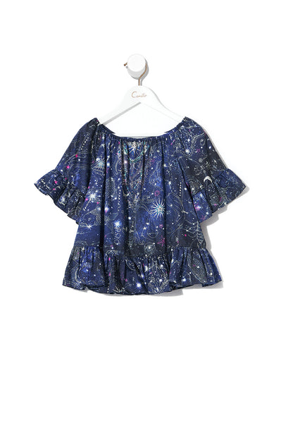 KIDS A-LINE FRILL DRESS STARGAZERS DAUGHTER
